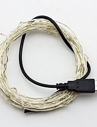Недорогие -10м USB-5v 100LED водонепроницаемой украшения привело медной проволоки огни строку для Рождественский фестиваль свадебного банкета патио