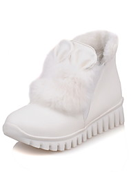 cheap -Women's Boots Spring Fall Winter Comfort Fur PU Office & Career Casual Athletic Platform Creepers White Black Red Walking