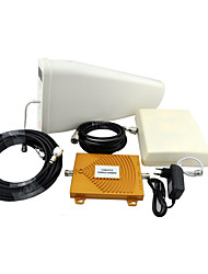 cheap -CDMA PCS Mobile Phone Signal Booster 850MHz 1900MHz Dual Band Signal Repeater Amplifier with Panel Antenna / Log Periodic Antenna