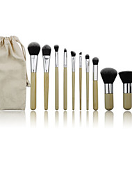 cheap -11 Makeup Brushes Professional Makeup Brush Set Nylon / Synthetic Hair Portable / Professional Wood