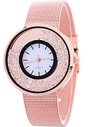 Women's Casual Fashion Quartz Strap Watch Personality Simple Diamond Round Alloy Dial Watch Cool Watch Unique Watches