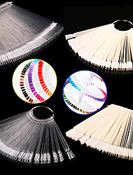 1set False Display Nail Art Fan Wheel Polish Practice Tip Sticks Nail Art 50pcs 100% Top Good