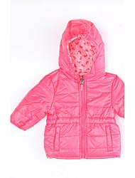 billige -Pige dun- og bomuldsforet Daglig Ensfarvet, Bomuld Vinter Lys pink