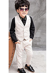 cheap -Boys' Formal Solid Colored Pants Suit & Blazer, Polyester Spring Fall Long Sleeves White Blue