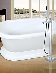 Contemporary / Art Deco/Retro / Handshower Included / Floor Standing / Pullout Spray with  Ceramic