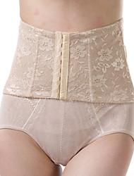cheap -Women's Underbust Corset Nightwear Solid Lace Jacquard-Thin Nylon Beige