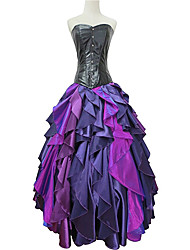 Mermaid Tail Cosplay Costume Party Costume Masquerade Movie Cosplay Purple Dress Halloween Carnival New Year Polyester