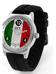 cheap -Men's Sport Watch / Wrist Watch Hot Sale / / Silicone Band Casual / Fashion Black