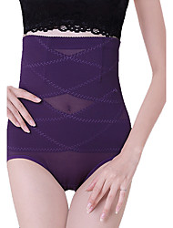 Women's Casual High Waist Breathable Shaping Panties Nylon Toning Pants