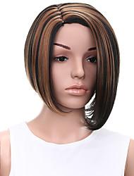 Ženy Tmavě hnědá / dark Auburn Rovné Umělé vlasy Bez krytky Přírodní paruka paruky