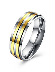 cheap -Men's Band Rings Fashion Stainless Steel Gold Plated Jewelry For Wedding Party Daily Casual