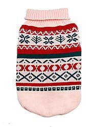 economico -Gatto Cane Maglioni Abbigliamento per cani Classico Fiocco di neve Grigio Giallo Verde Rosa Costume Per animali domestici
