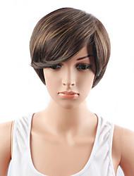 Ženy Medium Auburn Rovné Umělé vlasy Bez krytky Přírodní paruka paruky