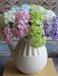 Недорогие -3шт 5clor красивый гортензия искусственный цветок домашнее украшение