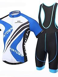 economico -XINTOWN Maglia con salopette corta da ciclismo Per uomo Manica corta Bicicletta Salopette Maglietta/Maglia Asciugatura rapida Resistente