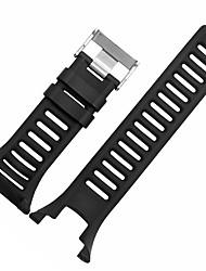 abordables -Noir / Gris / Orange Caoutchouc durable Bracelet Sport Pour Suunto Regarder 24mm
