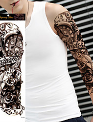 cheap -1Pcs Creative Temporary Tattoo Sticker Full Arm Sticker Decal Large Waterproof Body Art Tattoo