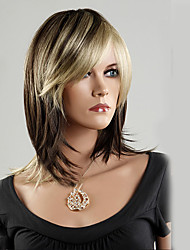 cheap -Black Gold Color Mixture Bobo Middle Length Synthetic Hair Wig