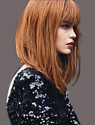 baratos -moda elegante perucas de cabelo humano em linha reta para a mulher