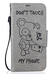 cheap -For Samsung Galaxy S7 S6 edge Winnie The Pattern Pu Leather Material Embossed Mobile Phone Holster