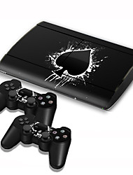 PS3 Slim 4000 Console Protective Sticker Cover Skin Controller Skin Sticker