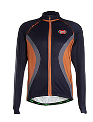 cheap -Sports Cycling Jersey Men's Long Sleeve Breathable / Thermal /Quick Dry / Front Zipper / Ultra Light Fabric Bike