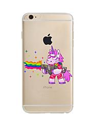 billige -Etui Til Apple iPhone X iPhone 8 Plus iPhone 7 iPhone 6 iPhone 5 etui Gennemsigtig Mønster Bagcover enhjørning Blødt TPU for iPhone X