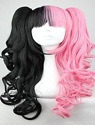 cheap -Pink And Black 70cm Classical Anime Wavy Braided Lolita Cosplay Wigs
