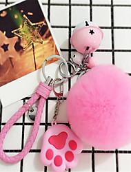 cheap -Rex Rabbit Fur Ball Soft Handbag Key Chain