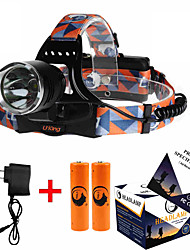 cheap -U'King ZQ-X8000 Headlamps Headlight LED 1000 lm 3 Mode Cree XM-L T6 with Batteries and Charger Zoomable Adjustable Focus Rechargeable