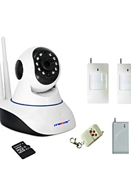 Strongshine® WIFI Burglar Alarm IP Camera Built-in 32GB SD Card With 1 Wireless Door Magnetic Sensor 1 PIR Motion Detector