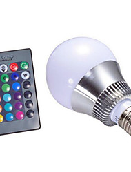 cheap -4W 250-320 lm E14 GU10 E26/E27 B22 LED Smart Bulbs A60(A19) 1 leds High Power LED Dimmable Decorative Remote-Controlled RGB AC 220-240V