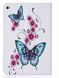 With Stand  Flip  Butterfly Pattern Case Full Body Case  Hard PU Leather for  iPad Mini 4 iPad Mini 3 2 1