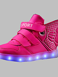 cheap -Boys' Shoes PU(Polyurethane) Winter Comfort / Light Up Shoes Boots for Fuchsia / Blue / Golden