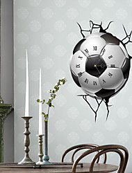 Modern/Contemporary Houses 3D Wall Clock Soccer  Indoor Clock