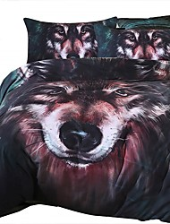 BeddingOutlet Wolf Bedding Set Painting 3D Vivid Comforter Cover Quality Twill Cool Bed Set Multi Sizes 3pcs