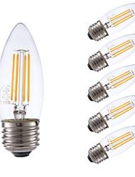 E26/E27 Ampoules à Filament LED B 4 COB 350 lm Blanc Chaud 2700 K Intensité Réglable V
