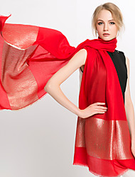 Women Vintage Casual candy color Silk Rectangle Stitching color red Scarf Shawl Beach Towel