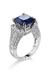 cheap -Women's AAA Cubic Zirconia Ring - Zircon Luxury, European, Fashion 6 / 7 / 8 / 9 / 10 Blue For Daily Casual