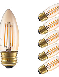 billige -GMY® 6stk 3.5 W 300 lm E26 / E27 LED-glødetrådspærer 4 LED Perler COB Dæmpbar Ravgul / 6 stk.
