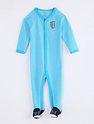 cheap -Baby Daily Striped One-Pieces, Cotton Fall Long Sleeves Blue