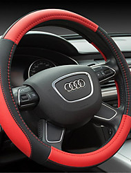Microfiber Leather Steering Wheel Cover Color Stitching Sports Style Sets