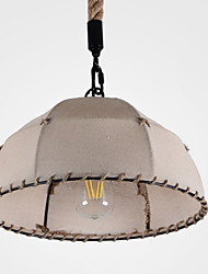 Pendant Light ,  Retro Country Painting Feature for Designers Fabric Living Room Bedroom Dining Room Kitchen Study Room/Office
