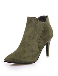Недорогие -Для женщин Ботинки Модная обувь Удобная обувь Полиуретан Зима Повседневные Для прогулок Модная обувь Удобная обувь Молнии На шпильке