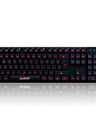 cheap -Gaming keyboard mechanical touch,3-color backlight,19key anti-ghosting A-Jazz Cyborg Soldier