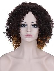 Ženy Béžová Stříbrná Afro Umělé vlasy Bez krytky Přírodní paruka paruky