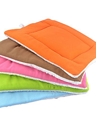 Cat Dog Bed Pet Mats & Pads Solid Double-Sided Soft Coffee Green Blue Blushing Pink Random Color