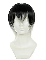 povoljno -Perike za maškare / Sintetičke perike Ravan kroj Crna Žene Capless Cosplay perika Sintentička kosa