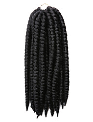 billige -Drejede Fletninger Hårkrøller Havana 35cm 100 % Kanekalon hår Sort / Medium Kastanjerød Sort / Mørk Kastanjerød Sort / Bourgogne