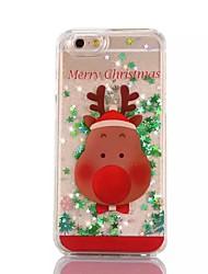 cheap -Christmas Antelope PC Flowing Liquid Case for iPhone 7 7 Plus 6s 6 Plus SE 5s